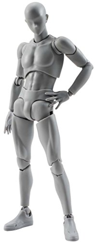 Bandai - Figurine S.H.Figuarts - Body Kun (male) DX Set Grey Color Version - 4549660040880 (Body Chan Body Kun Manga Drawing Figure)
