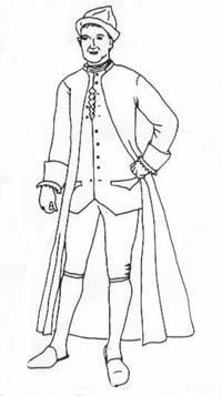 Men's Banyen and Cap pattern (Pirates Of The Caribbean Captain Barbossa Costume)