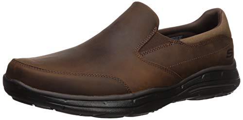 Skechers Men's Glides Calculous Slip-On Loafer,Dark Brown,13 3E US
