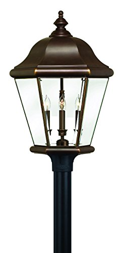 - Hinkley 2407CB Traditional Four Light Post Top from Clifton Park collection in Copperfinish,