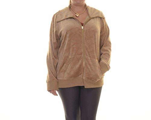 Velour Zip Front Jacket - 5