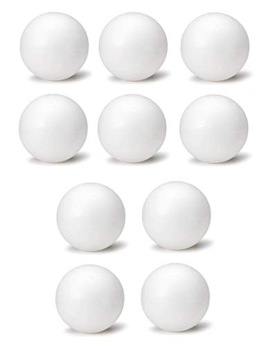 8 Inch White Foam Craft Balls for Art & Crafts Projects Foam Polystyrene Balls (10) ()