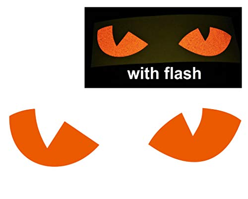 - Orange Cat Eyes Decal Reflective Reflector Devil Demon Evil Tiger No Fear Sticker 6