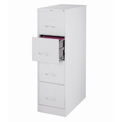 4 Drawer Commercial Letter Size Filing Cabinet Finish: Light Gray