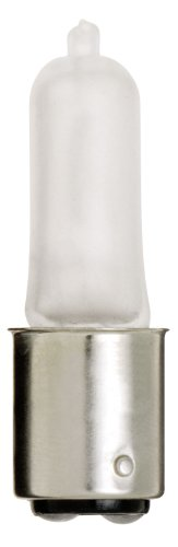 Satco S1982 120V 50-Watt T4 DC Bayonet Base Light Bulb, Frosted