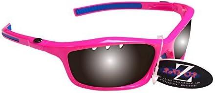 Rayzor Profesional ligero UV400rosa deportes Wrap Running Gafas de sol, con un lente ahumada con ventilación
