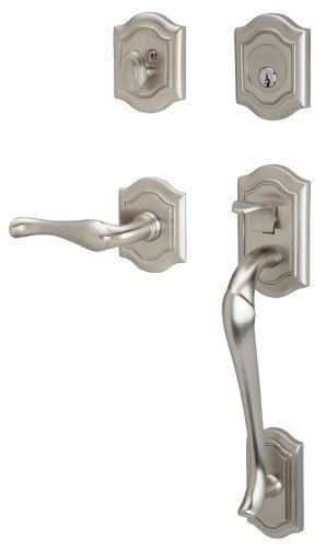 - Baldwin 85327.150.RENT Bethpage Sectional Trim Right Hand Handleset with Bethpage Lever, Satin Nickel