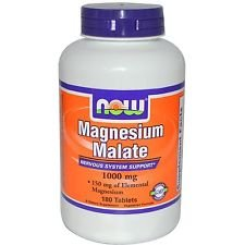 NOW Foods Magnesium Malate 1000 Mg 180 Tablets (1) Magnesium Malate 180 Tablets