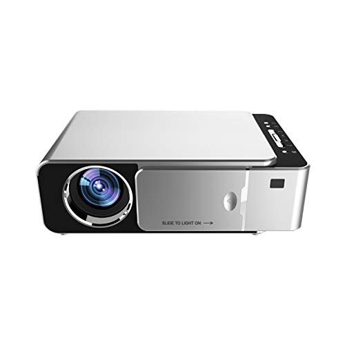 Feeling-one Mobile Phone with Screen Projector, Projector T6 Home HD Projector Led Micro Mini Projector Portable Phone Projection (Silver)