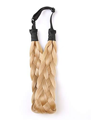 Coolcos Elastic Synthetic Chunky Hair Braid 5 Strands Braids Hair Headbands Plaited Braided Headband (#27 mix 613 color)