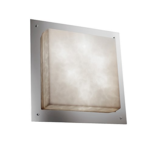 Justice Design Group Clouds Framed 24 inch Square Flush Mount - Crom Framed Square