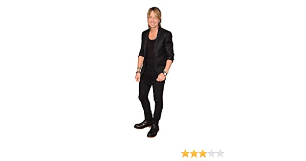 Cardboard Cutout Black Outfit lifesize Keith Urban Standee.