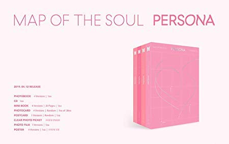 Bighit BTS Bangtan Boys - MAP of The Soul : Persona [1+2+3+4 ver. Set] 4CD+4Photobooks+4Mini Books+4Photocards+4Postcards+4Photo Films+4Folded Posters+4 Double Side Extra Photocards Set ()