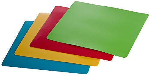 Prepworks by Progressive Flexible Color-Coded Chopping Mats - Set of 4 - 4 Poultry