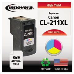 – Remanufactured CL-211XL Ink, 349 Page-Yield, Color