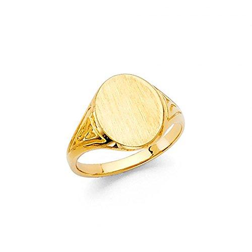 14k Yellow Gold Baby Signet Ring 14k Baby Jewelry Set