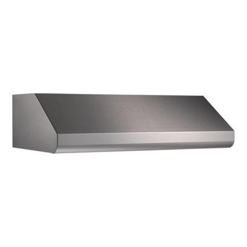 "Broan Elite E64E36SS 36"" Under-Cabinet Canopy Range Hood with External Blower Options Variable Speed Control and Baffle Filters in Stainless Steel (Blowers Sold from Broan"