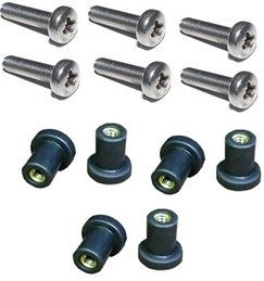 - M5 Neoprene Well Nut M5 With 20mm Stainless Steel Pozi Screw (E) by H2o Kayaks