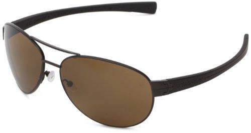 Tag Heuer LRS 253 203 Polarized Aviator Sunglasses,Dark Brown & Black,62 mm ()
