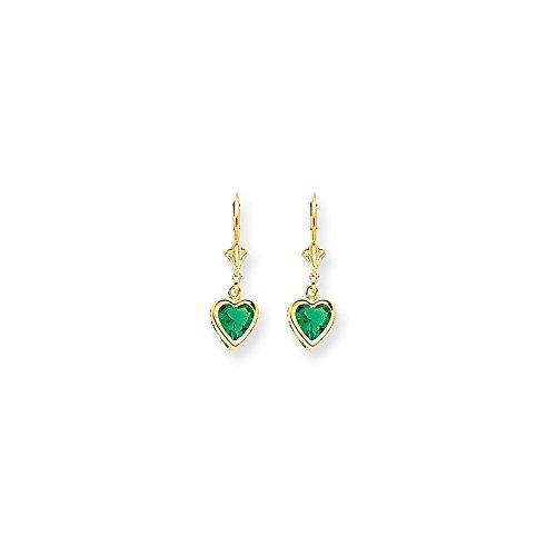 Best Designer Jewelry 14k 6mm Heart Mount St. Helens Earrings