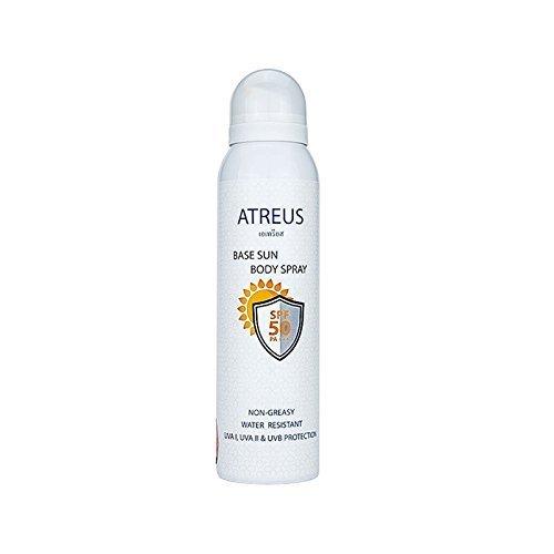 - Atreus Base Sun Body Spray Body Spray Sunscreen SPF 50 PA+++ Face Body Water Resistant UV Protection Sun Screen Cream Hydrated Isolation Face Whitening Spray