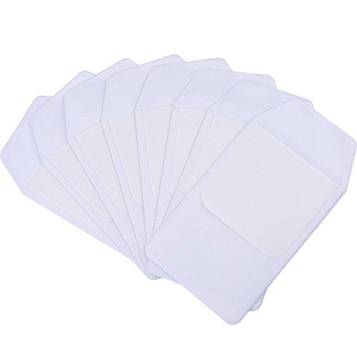 Outus White Pocket Protector for School Hospital Office, 8 Pieces ()