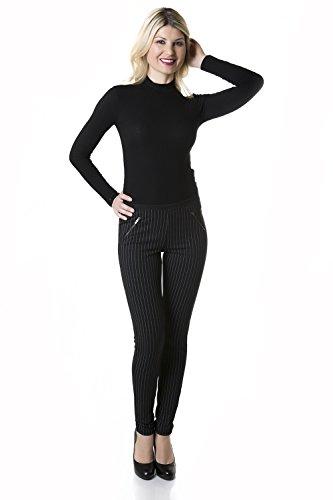 Suko Jeans Womens Pull on Ponte Pants - Skinny Legging - Figure Flattering