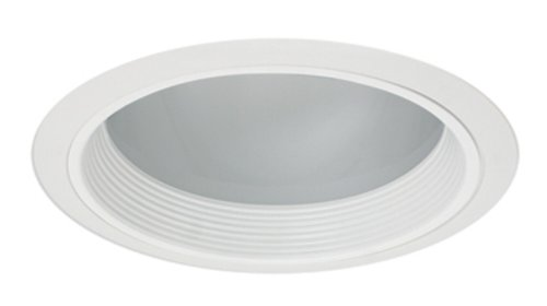 Intense Lighting IC611B-B Horizontal 6-Inch Compact Fluorescent Recessed Trim, Black Baffle with White (Ring Baffle)