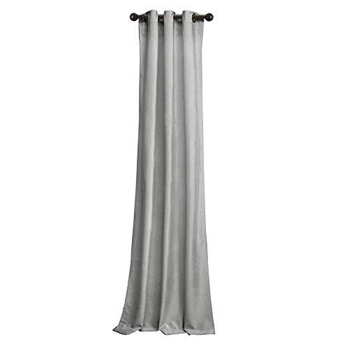 Eyelet Velvet - BRIGHTLINEN Vintage 100% Velvet 50 by 132 inches Thick Blackout Elegant Ring Top Eyelet Velvet Curtains Silver