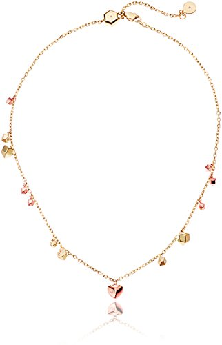 Michael Kors Tailored Two-Tone Nugget Slider Choker Necklace, 16