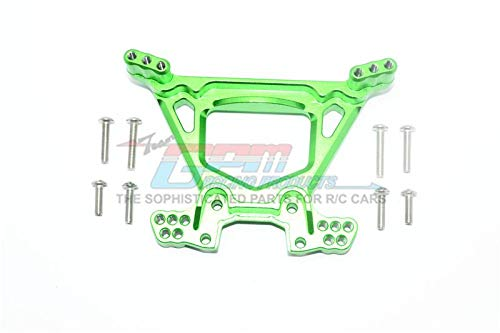 Traxxas Rustler 4X4 VXL (67076-4) Upgrade Parts Aluminum Rear Shock Tower - 1Pc Set Green