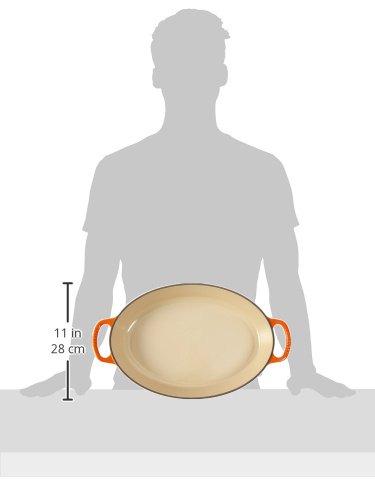 Le Creuset Enamel Cast Iron Signature Oval Baker, 3 qt, Flame