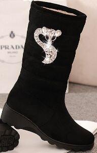 Laruise Women's Snow Boots Black Q7EwmI