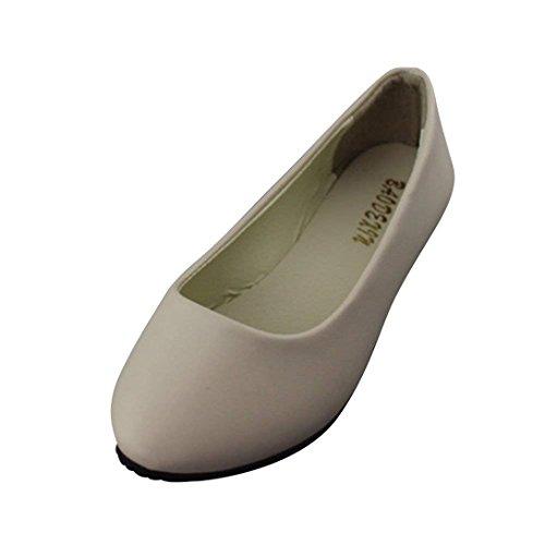 Verano Plataforma Zapato Chic Beige Mujer Primavera y Casual Vestir Barato Silenciado Moda Plano Bailarina 1q6wPqXx