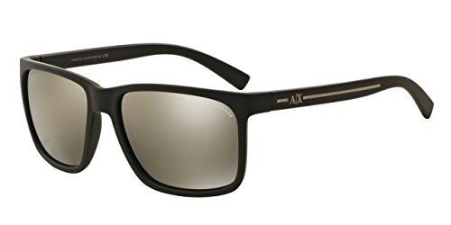 Armani Exchange Mens Sunglasses (AX4041) Brown/Gold Plastic - Non-Polarized - 58mm