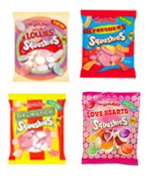 Squashies 4 Pack Mix (Drumstick, Double Lolly, Refresher, Love Hearts) 150g Bags x4
