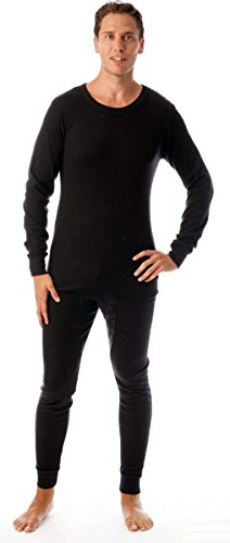#followme Ultra Soft Thermal Underwear Set for Men 95963-Black-XXL ()
