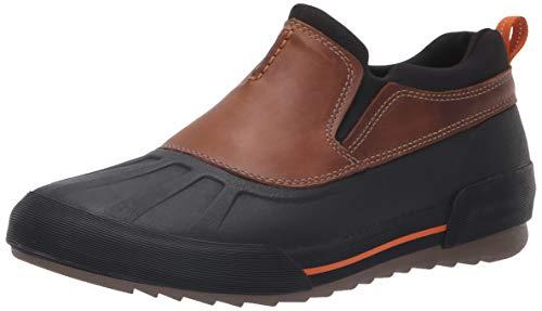 CLARKS Men's Bowman Free Rain Shoe, Dark tan Leather, 100 M US
