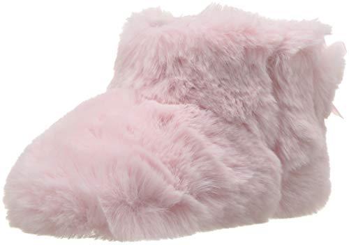 UGG Girls' I Jesse Bow II Fluff Fashion Boot, Baby Pink, 4/5 M US Infant
