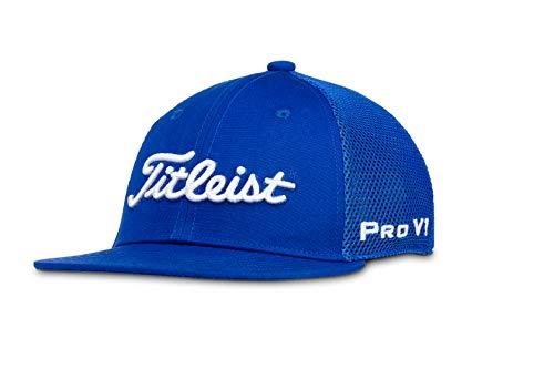 (Titleist Men's Tour Flat Bill Mesh Golf Hat, Royal/White)