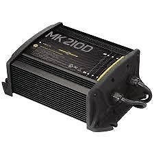 MinnKota MK 210D On-Board Battery Charger (2 Banks, 5 amps per bank) - Corrosion Buster