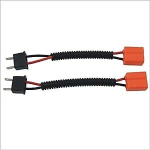 ZQ masculino h7 al cable de extensión sockets arneses femenina un coche faro / foglight (2pcs)