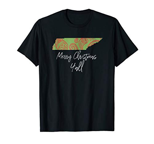 Merry Christmas Tennessee Paisley Holiday Party Gift Shirt -
