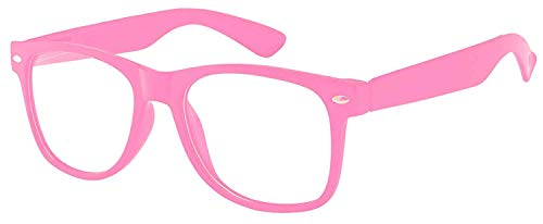 Kids Clear Lens Glasses Protect Child's Eyes UVB UVA Baby Pink