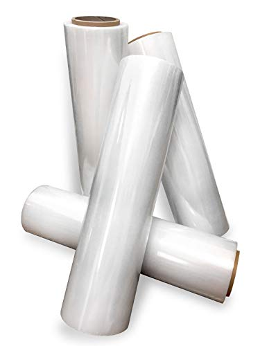 18'' Stretch Film/Wrap 1200ft 500% stretch Clear Cling Durable Adhering Packing Moving Packaging Heavy Duty Shrink Film (4 Pack, Clear) by International Plastics Co