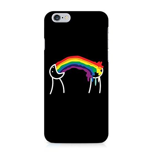 COVER Rainbow Comic auf schwarz Design Handy Hülle Case 3D-Druck Top-Qualität kratzfest Apple iPhone 6 6S