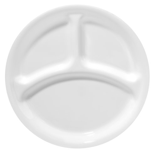 Corelle Livingware 10-1/4-Inch Divided Dish, Winter Frost White