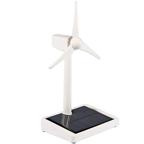 Sunnytech Solar Powered Windmill Toy Kits Wind Mill Solar Energy Children Science Teaching Tool Office Desk Garden Décor Automobile Ornament WJ239 -