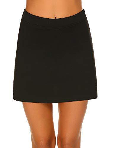 ve Athletic Skort Lightweight Skirt Underneath Shorts with Pockets ()