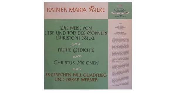Will Quadflieg Und Oskar Werner Rainer Maria Rilke Die